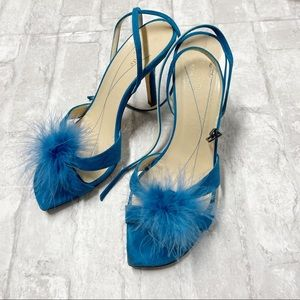 Kate Spade suede feather sexy pumps 7.5B